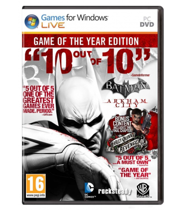 Batman: Arkham City GOTY Edition STEAM CD-KEY GLOBAL